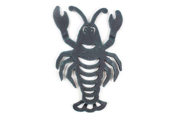 Seaworn Blue Cast Iron Lobster Trivet 11