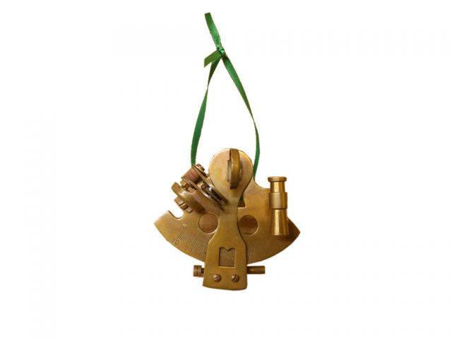 Antique Copper Sextant Christmas Ornament 5