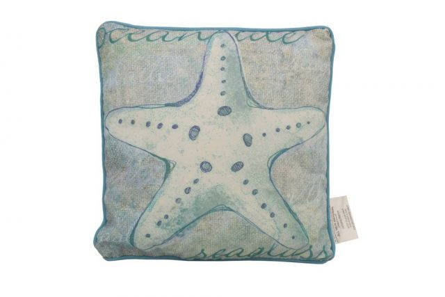 Blue and White Starfish Decorative Throw Pillow 10