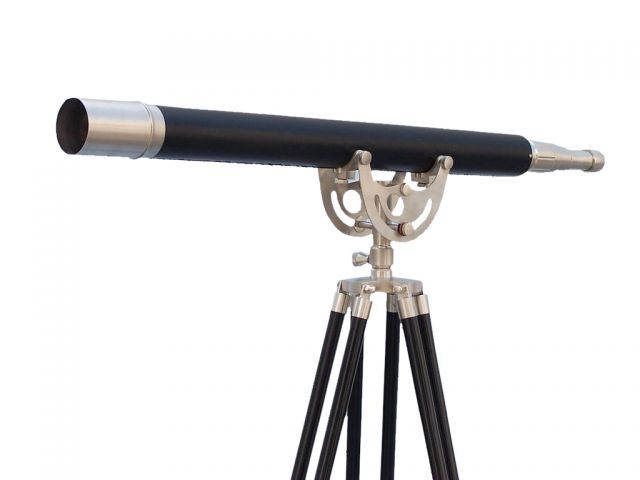 Floor Standing Brushed Nickel With Leather Anchormaster Telescope 65