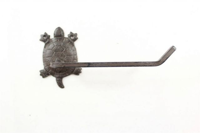 Cast Iron Decorative Turtle Toilet Paper Holder 10
