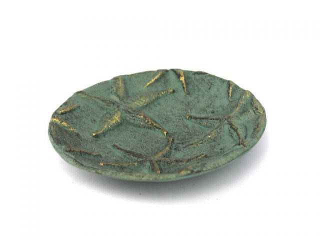 Antique Bronze Cast Iron Starfish Decorative Plate 6.5