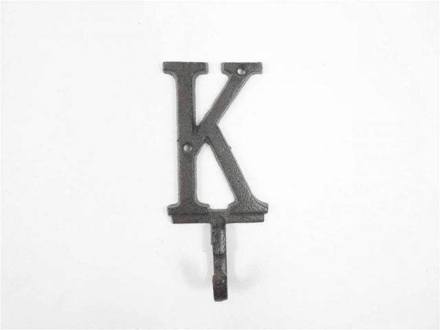 Cast Iron Letter K Alphabet Wall Hook 6