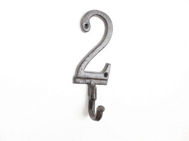 Cast Iron Number 2 Wall Hook 6