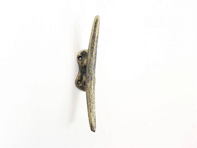Rustic Gold Cast Iron Cleat Wall Hook 6