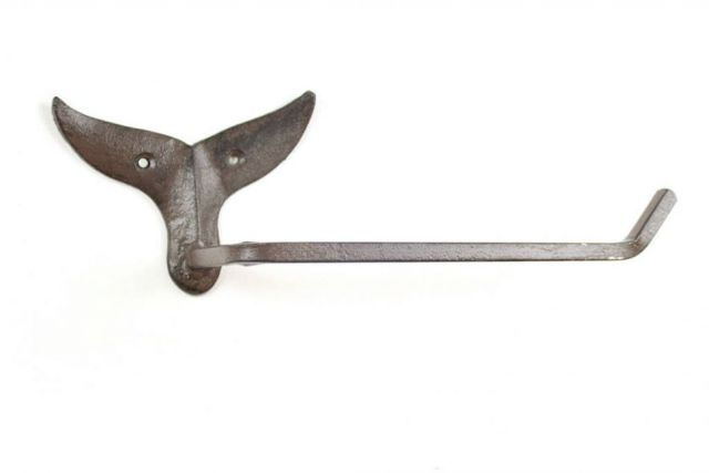 Cast Iron Whale Tail Toilet Paper Holder 11