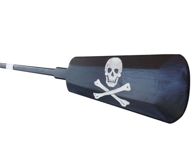 Wooden Captain Kidds Decorative Pirate Rowing Boat Oar with Hooks 62