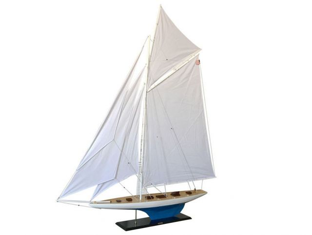 Wooden Defender Model Sailboat Decoration 80