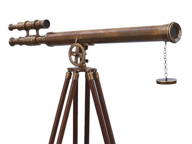 Floor Standing Antique Brass Griffith Astro Telescope 64