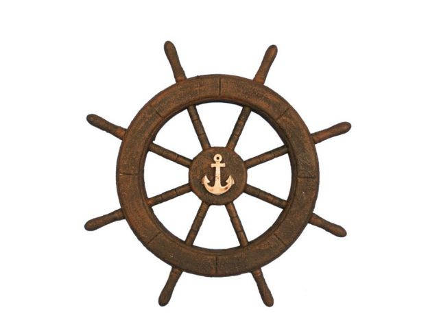 Flying Dutchman Ghost Pirate Decorative Ship Wheel With Anchor 18