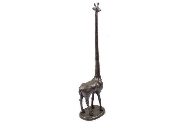 Cast Iron Giraffe Paper Towel Holder 19