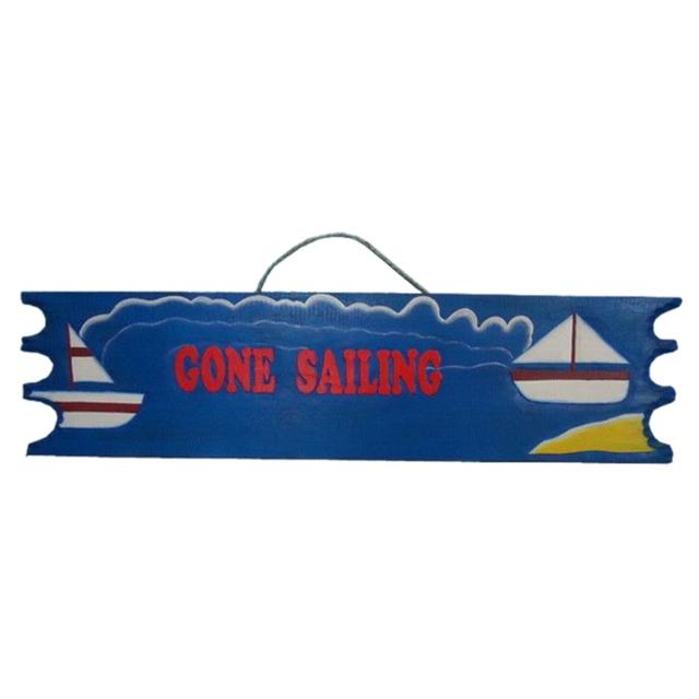 Wooden Gone Sailing Sign 39