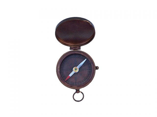 Bronzed Lewis And Clark Pocket Compass 3