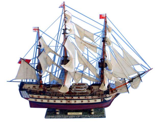 HMS Leopard Tall Model Ship 36