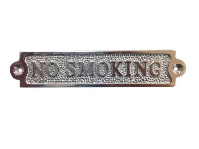 Chrome No Smoking Sign 6