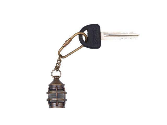 Antique Brass Anchor Lantern Key Chain 5