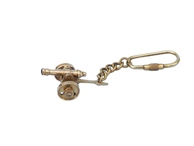 Solid Brass Cannon Key Chain 5