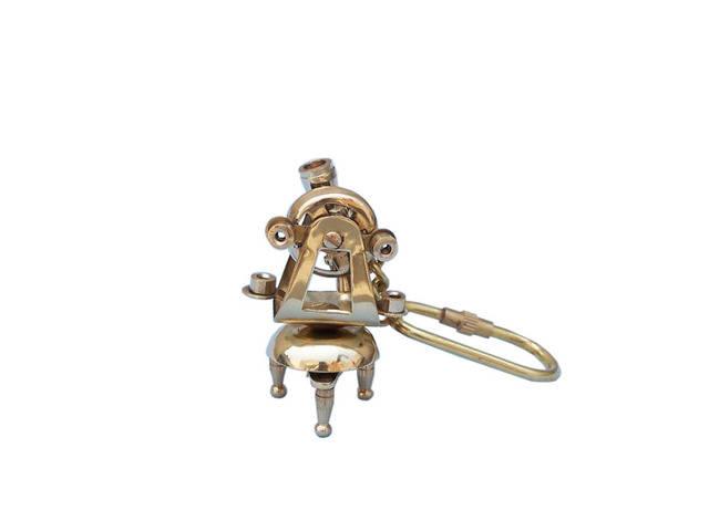 Solid Brass Theodolite Key Chain 5