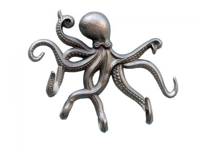 Silver Finish Octopus with Tentacle Hooks 11