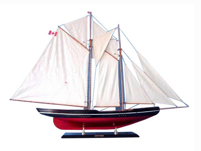 Wooden Bluenose 2 Model Sailboat Decoration 50