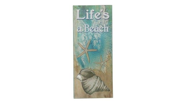 Wooden Lifes A Beach Starfish Sign 19