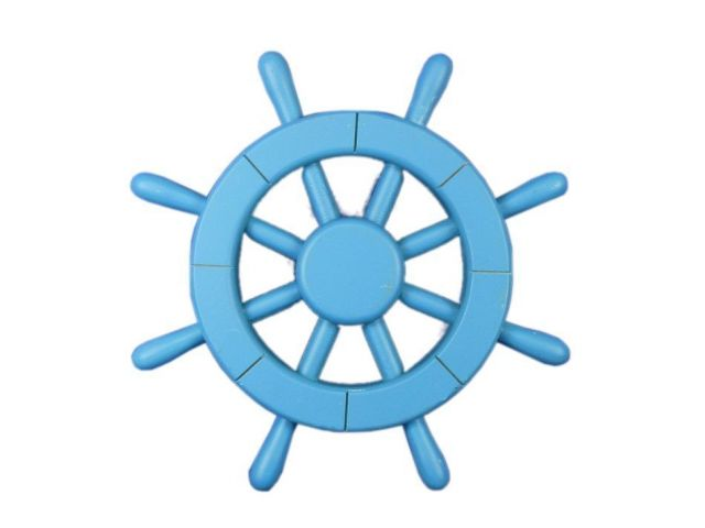 Light Blue Decorative Ship Wheel 12