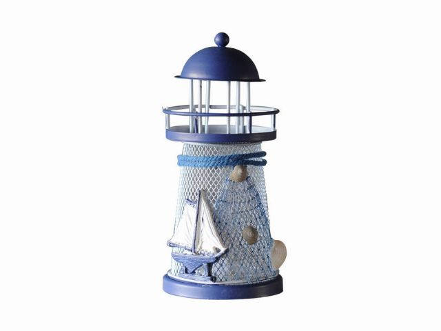 LED Lighted Decorative Metal Lighthouse with Sailboat 6