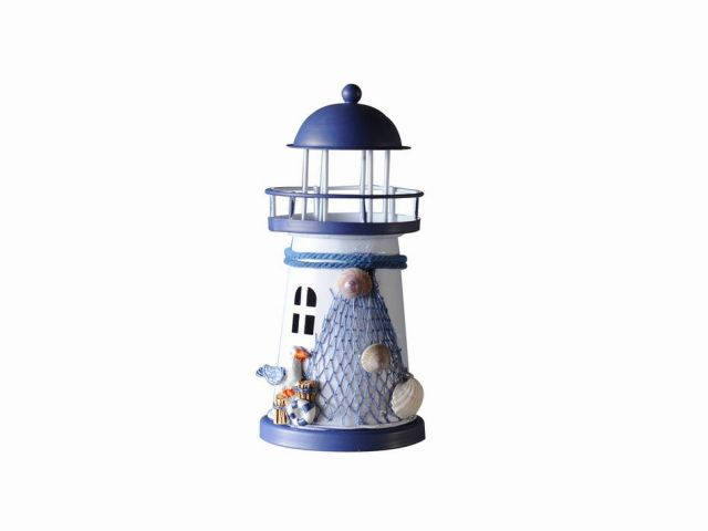 LED Lighted Decorative Metal Lighthouse with Seagull 6