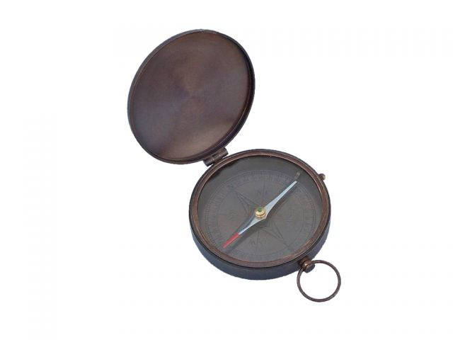 Bronzed Gentlemens Compass With Rosewood Box 4