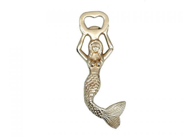 Gold Finish Swimming Mermaid Bottle Opener 7