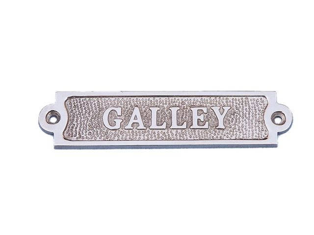 Chrome Galley Sign 6