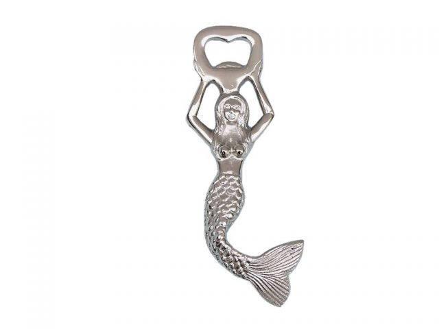 Chrome Swimming Mermaid Bottle Opener 7