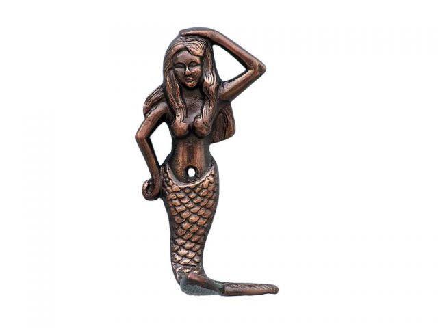 Antique Copper Mermaid Hook 6