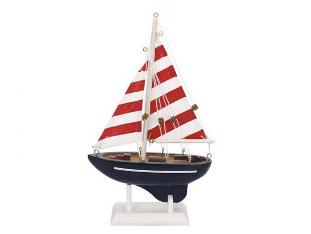 Wooden Nautical Delight Model Sailboat 9