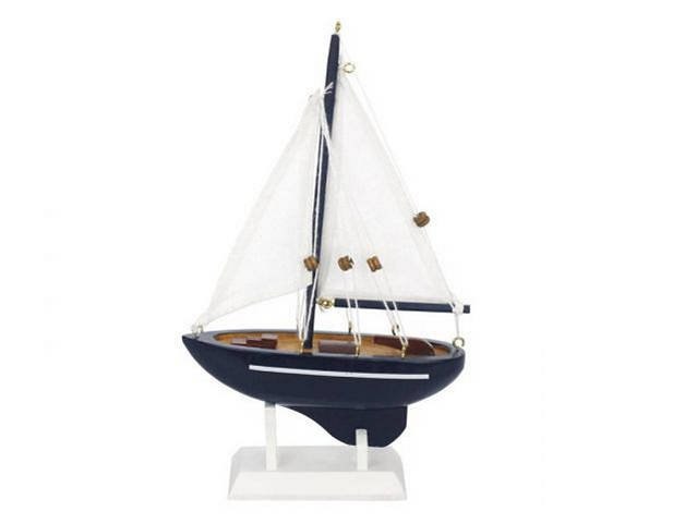Wooden Gone Sailing Model Sailboat 9