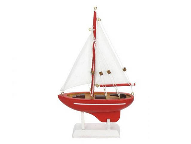 Wooden Compass Rose Model Sailboat 9
