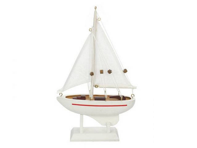 Wooden Intrepid Model Sailboat 9