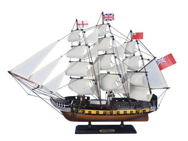 Wooden HMS Surprise Master and Commander Model Ship 24