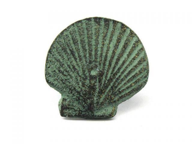 Antique Bronze Cast Iron Seashell Napkin Ring 2 - set of 2