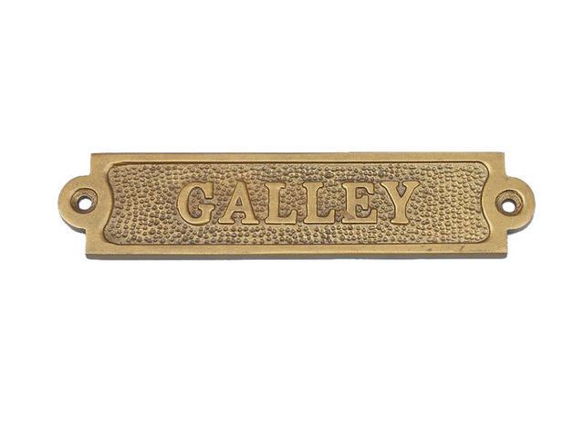 Antique Brass Galley Sign 6