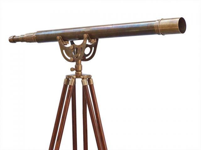 Floor Standing Antique Brass Anchormaster Telescope 65