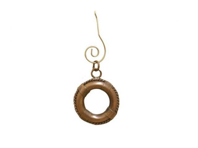 Antique Copper Life Ring Christmas Ornament 4