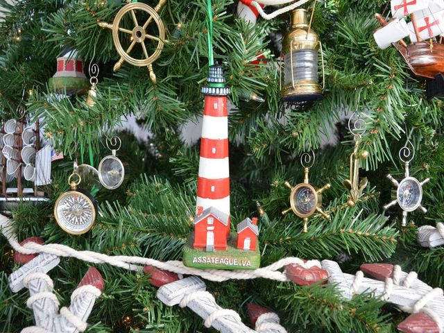 Assateague Lighthouse Christmas Tree Ornament