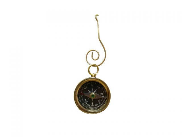 Solid Brass Decorative Compass Christmas Ornament 4