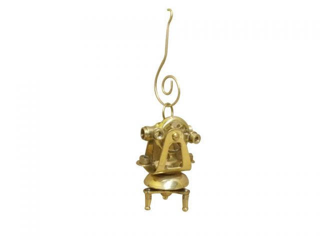 Solid Brass Theodolite Christmas Ornament 4