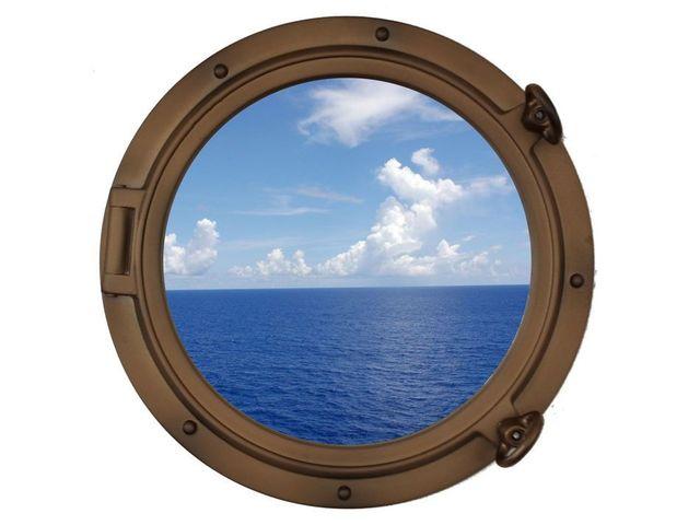 Bronzed Decorative Ship Porthole Window 15