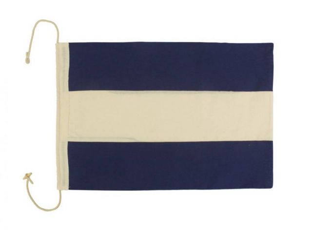Letter J Cloth Nautical Alphabet Flag Decoration 20