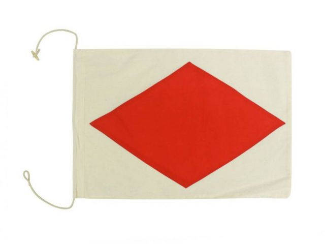Letter F Cloth Nautical Alphabet Flag Decoration 20