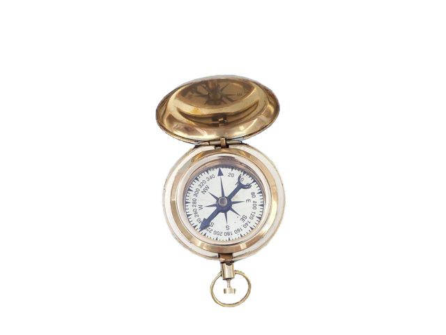 Brass Ship Scouts Push Button Compass 2
