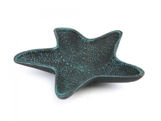 Seaworn Blue Cast Iron Starfish Decorative Bowl 8